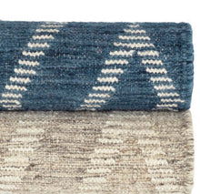 Load image into Gallery viewer, 2x3 Healy Blue Woven Wool Rug