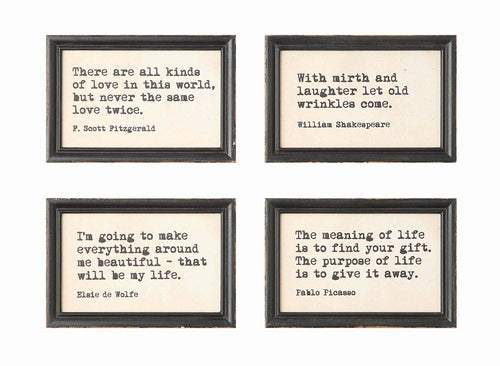 Wood Framed Wall Decor with Saying