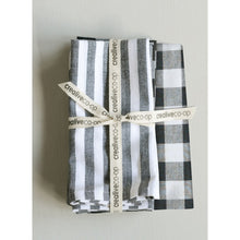 Load image into Gallery viewer, Stripes and Plaid Cotton Napkins, Set of 4