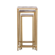 Load image into Gallery viewer, Pollock Tall Nesting Tables - Brass (Set of 3)