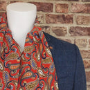 Evoque Red Paisley Cotton Cravat