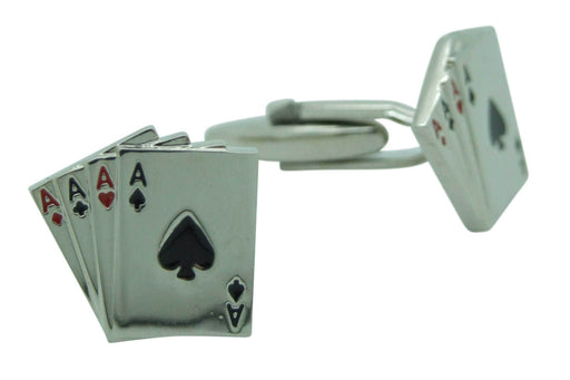 4 Aces Playing Card Cufflinks - Cufflinks - - ThreadPepper