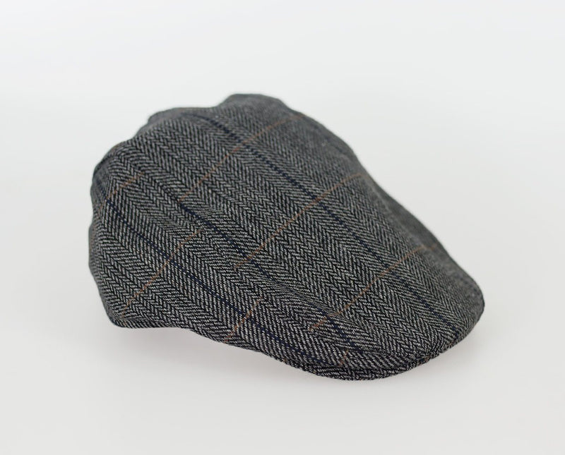 Albert Tweed Flat Cap - Hats - S/M Grey - ThreadPepper