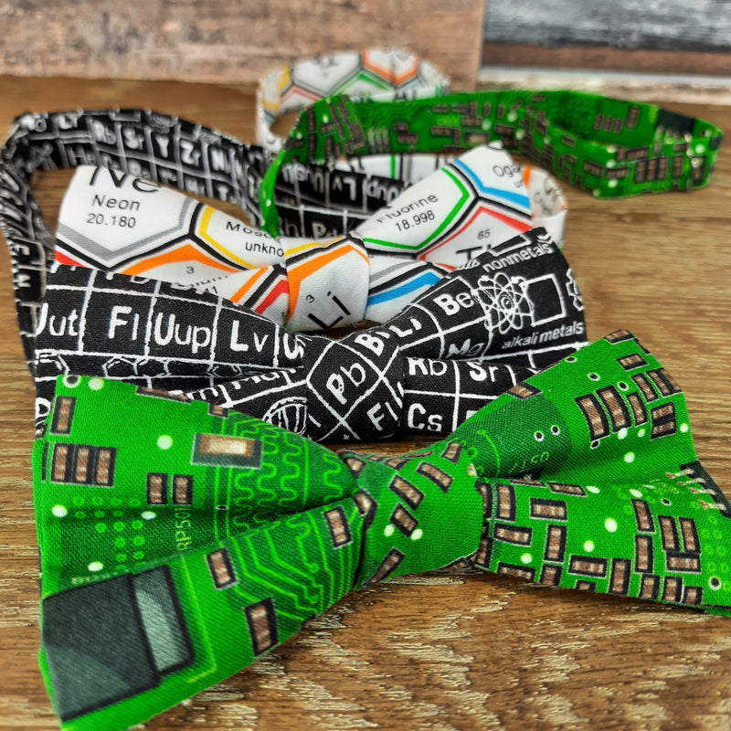 Black Periodic Table Bow Tie - Bow Ties - - ThreadPepper