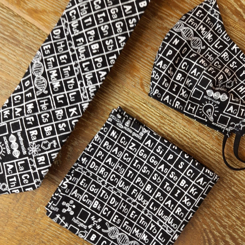 Black Periodic Table Pocket Square - Handkerchiefs - - ThreadPepper