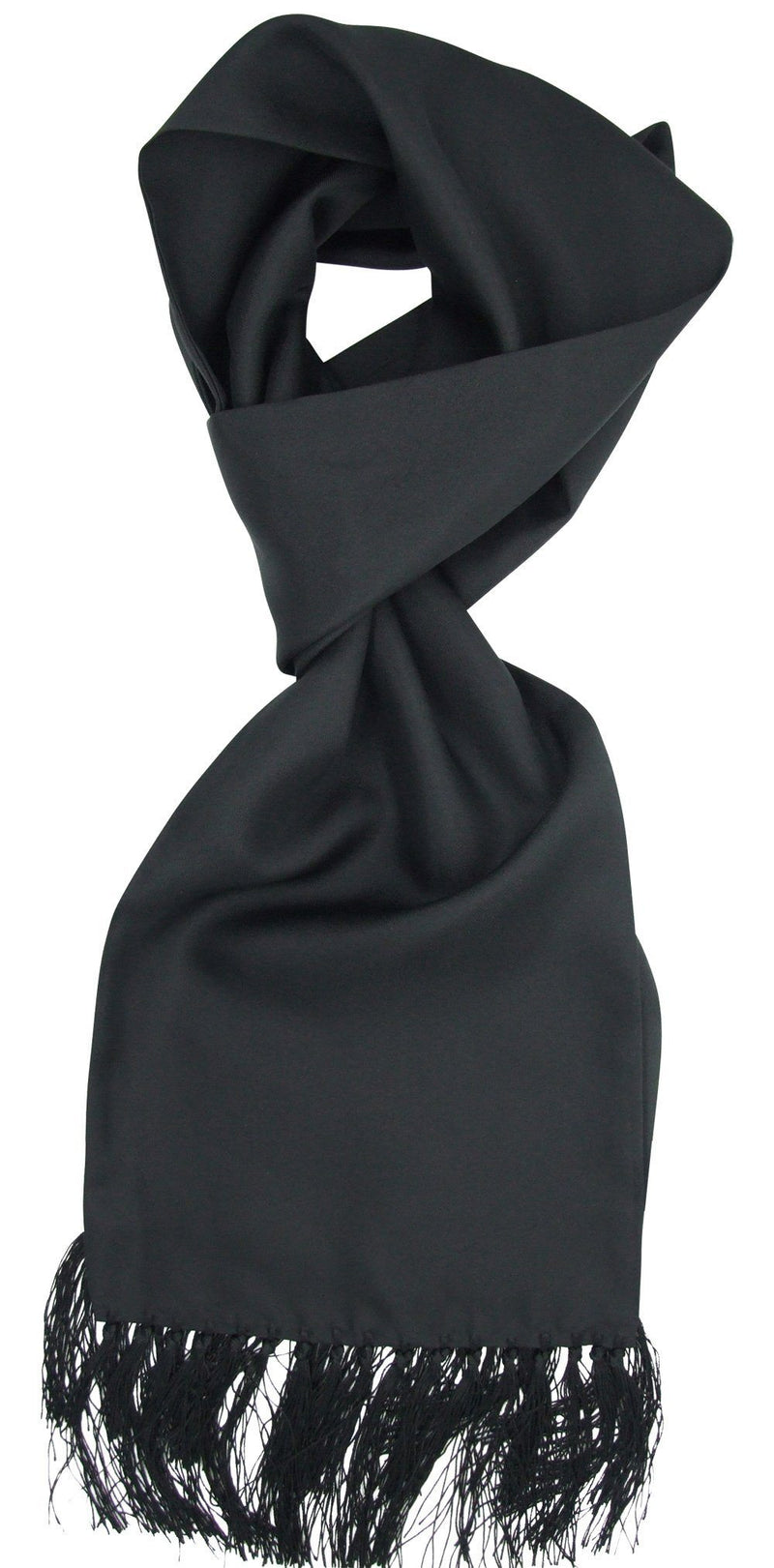 Black Silk Dress Scarf - Scarves - - ThreadPepper