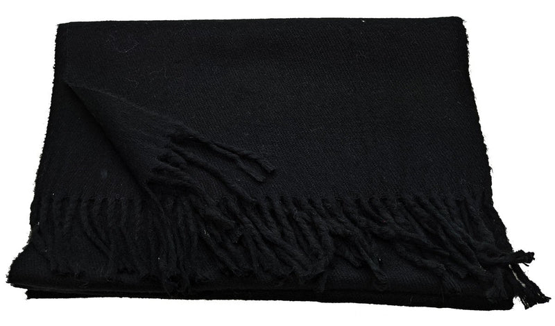 Black Winter Scarf - Scarves - - ThreadPepper