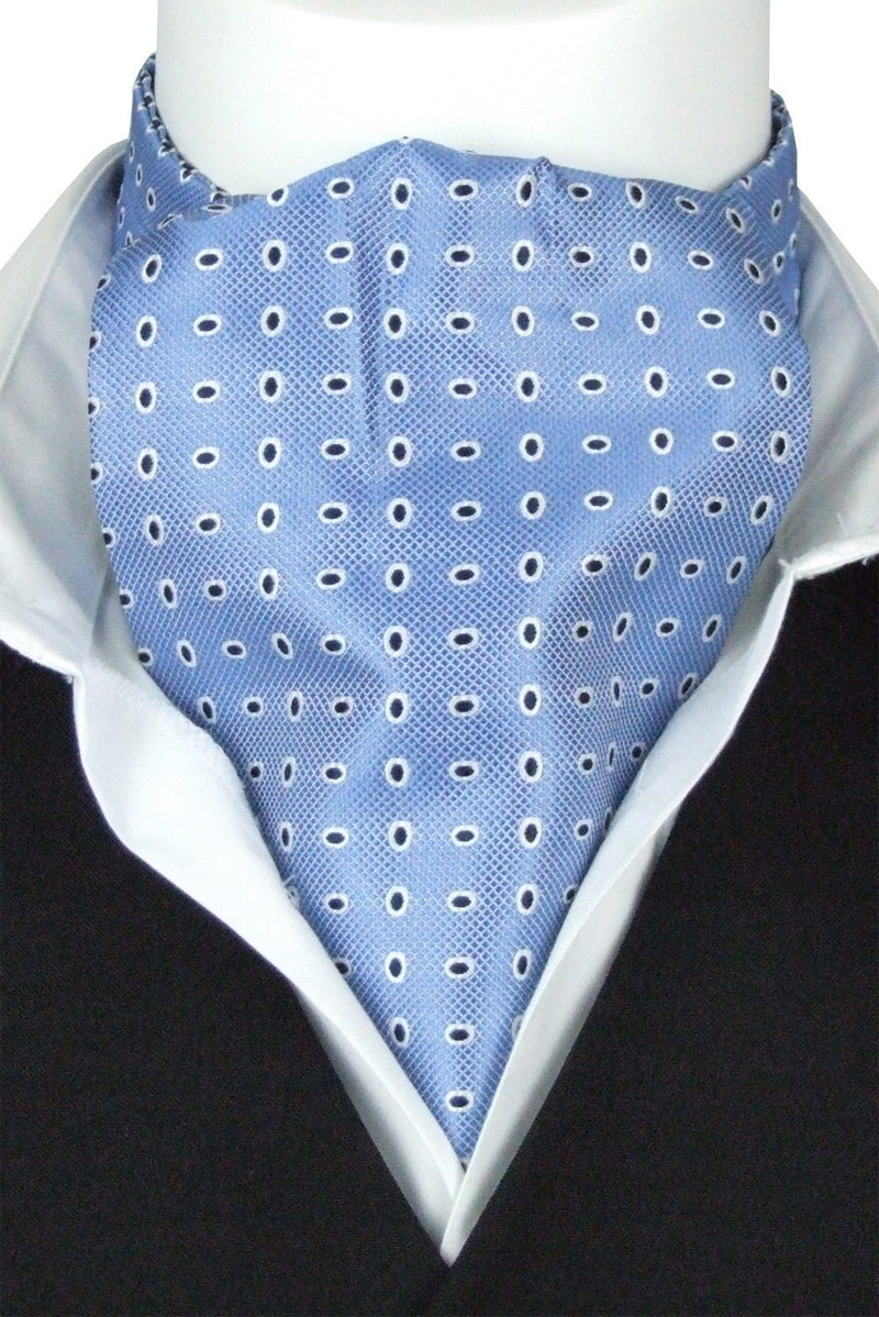 Blue Ovals Cravat - Cravats - - ThreadPepper