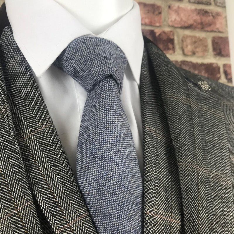 Blue Wool Tie - Ties - - ThreadPepper