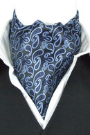 Bold Blue Paisley Cravat - Cravats - - ThreadPepper
