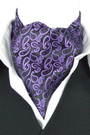 Bold Purple Paisley Cravat - Cravats - - ThreadPepper