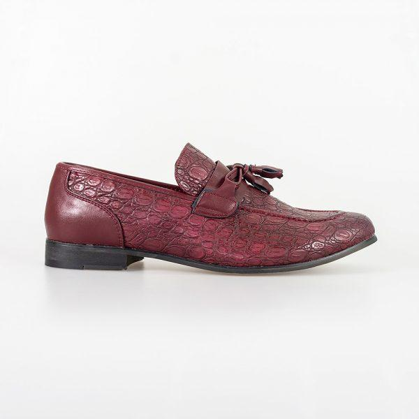 Brindisi Dark Red Shoe - Shoes - - ThreadPepper