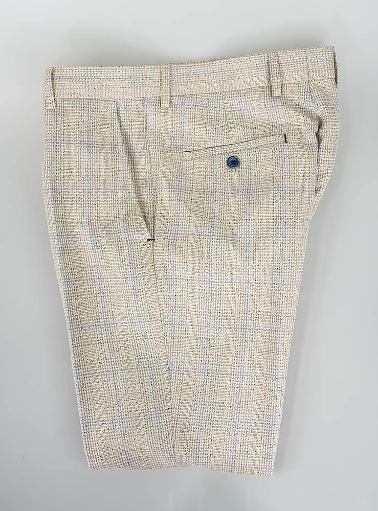 Caridi Cream Tweed Slim Fit Trousers - Trousers - 30R - ThreadPepper