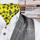 Caspian Yellow All Silk Cravat - Cravats - - ThreadPepper