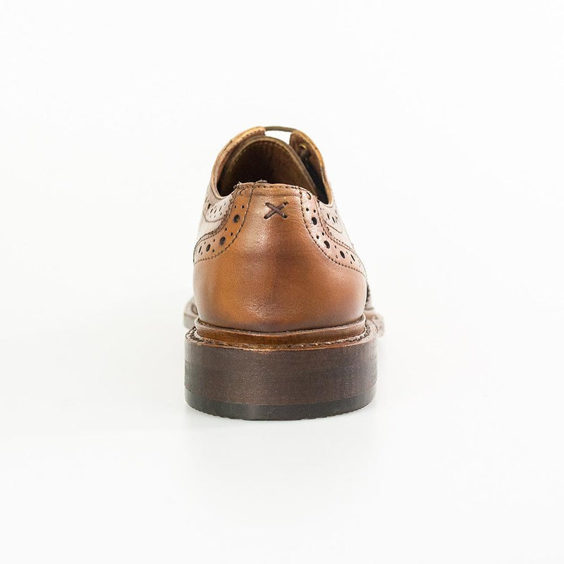 Cavendish Tan Signature Brogue Shoes - Shoes - - ThreadPepper