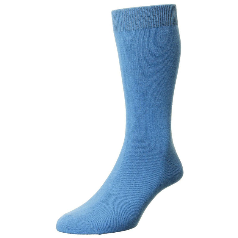 Classic Cotton Socks - Socks - Blue Aster - ThreadPepper