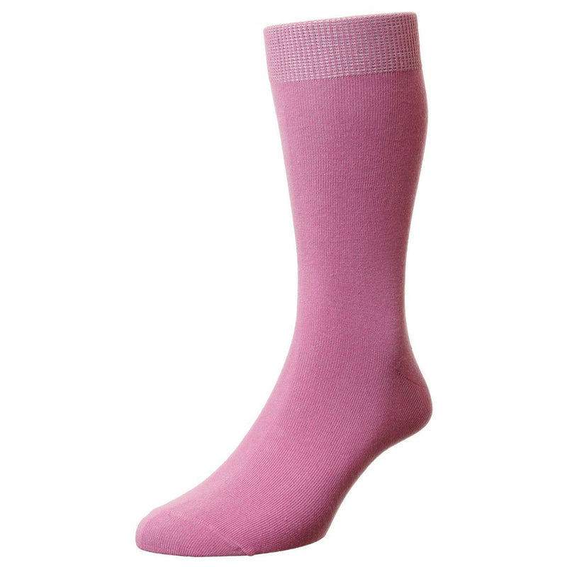 Classic Cotton Socks - Socks - Pastel Pink - ThreadPepper