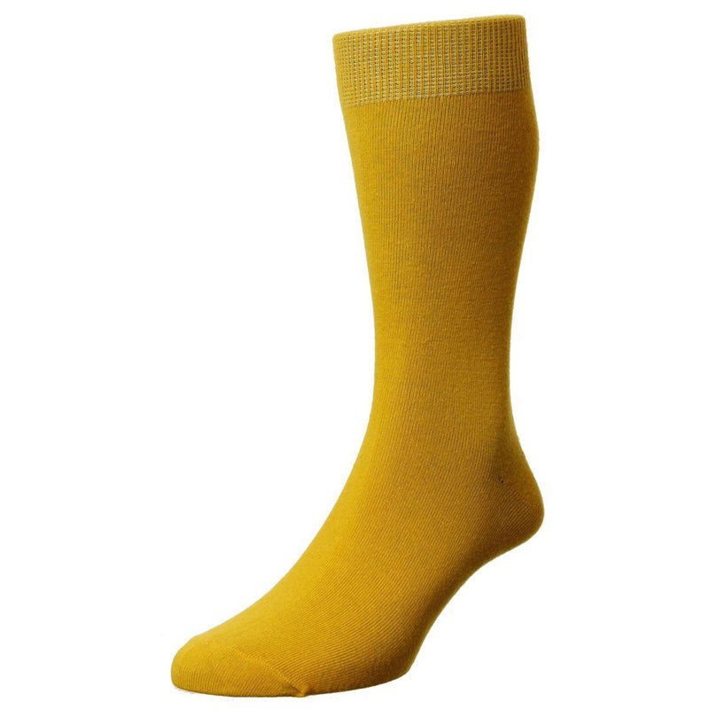 Classic Cotton Socks - Socks - Saffron - ThreadPepper