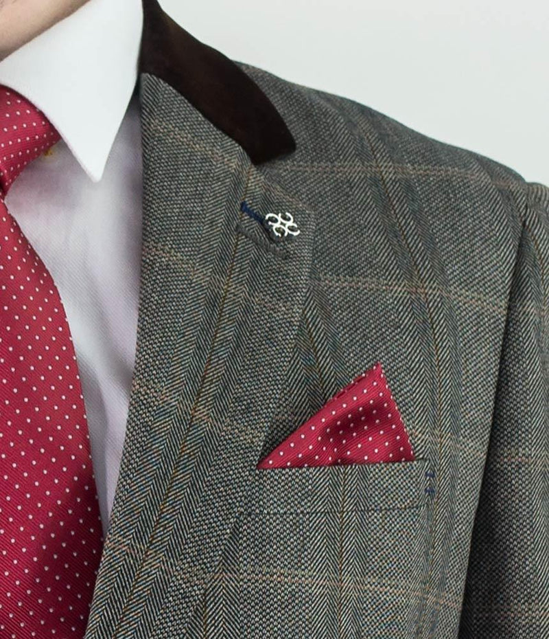"Connall Brown Tweed Blazer - Blazers - 34"" - ThreadPepper"
