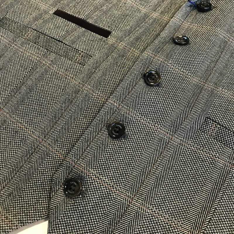 Connall Brown Tweed Waistcoat - Waistcoats - - ThreadPepper