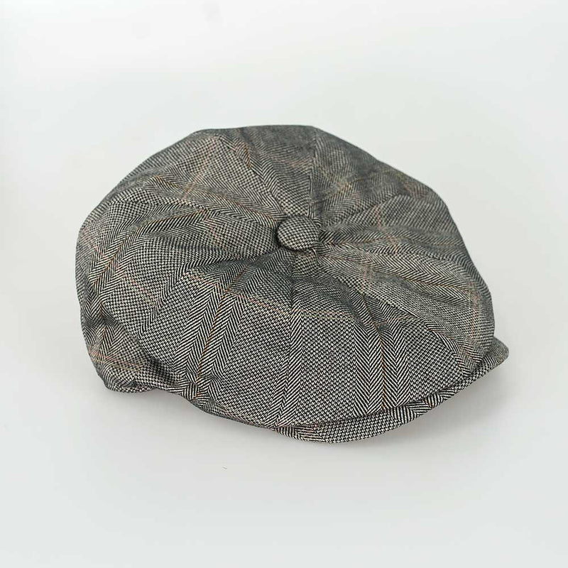 Connell Tweed 8 Panel Baker Boy Cap - Available in 3 colours - Hats - S/M Brown - ThreadPepper