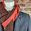 Copper Paisley Silk Wool Backed Scarf - LIMITED EDITION - Scarves - - ThreadPepper