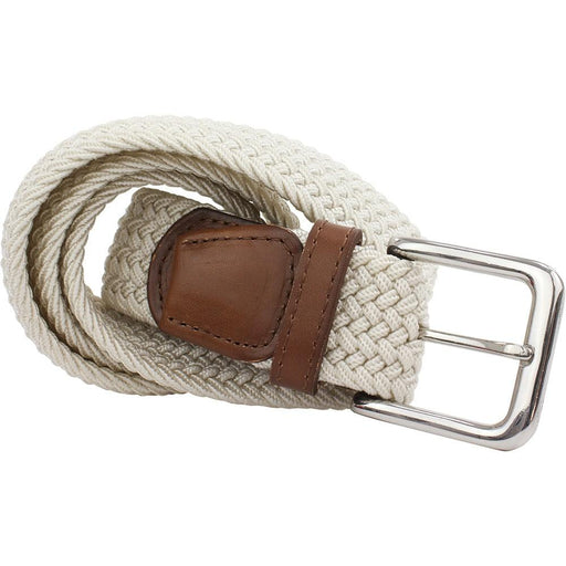 Ecru Woven Belt - - - ThreadPepper