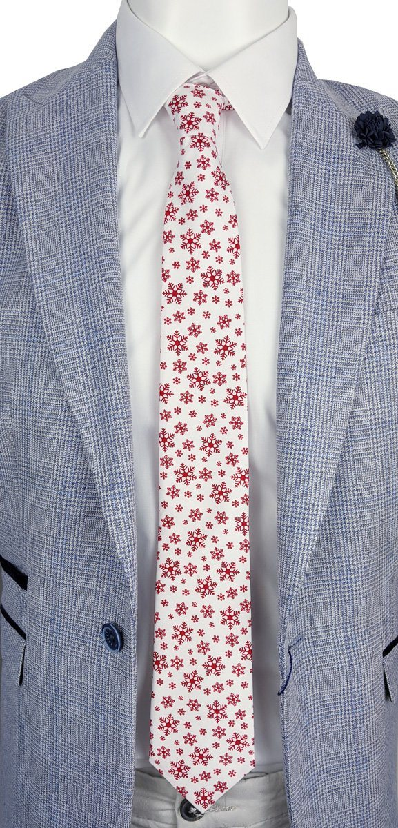 Falling Snowflakes Christmas Tie - Ties - - ThreadPepper