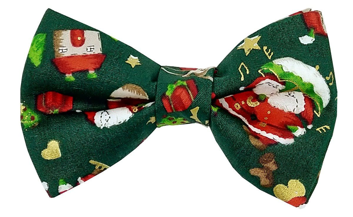 Festive Santa Pre-Tied Bow Tie - Bow Ties - - ThreadPepper
