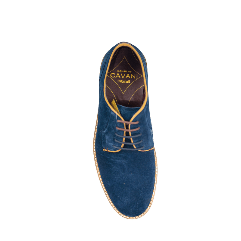 Gobi Navy Suede Shoes - Footwear - 7 - ThreadPepper
