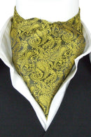 Gold Tangled Paisley Cravat - Cravats - - ThreadPepper