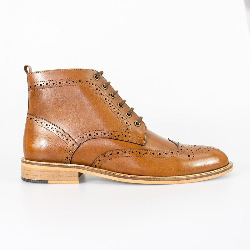 Holmes Tan Boots - Footwear - - ThreadPepper