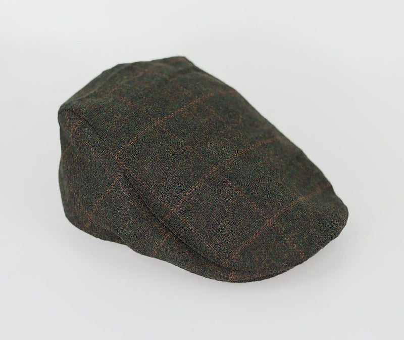 Kemson Tweed Flat Cap - Available in 2 Colours - Hats - S/M Olive - ThreadPepper