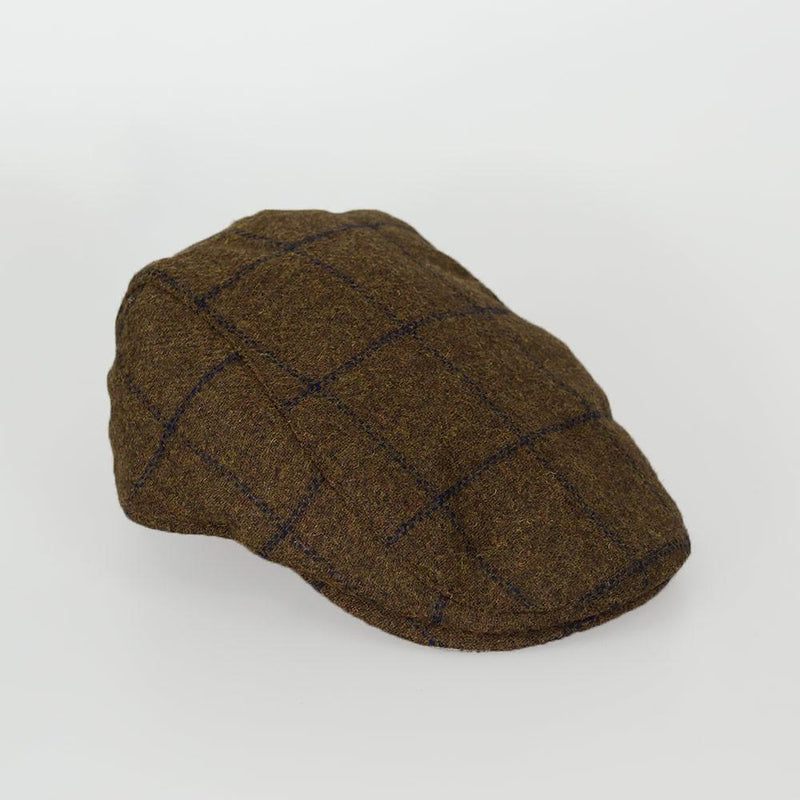 Kemson Tweed Flat Cap - Available in 2 Colours - Hats - S/M Tan - ThreadPepper