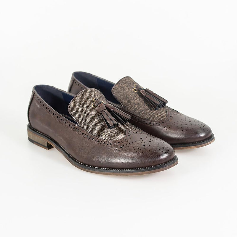 Lucius Brown Loafer - Shoes - 7 - ThreadPepper