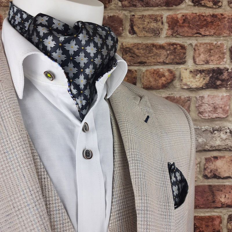 Midnight Trellis Casual Cravat - Cravats - - ThreadPepper
