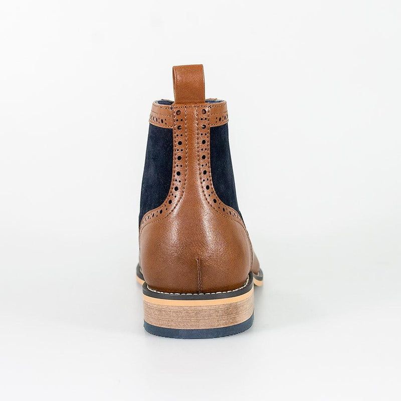 Modena Tan/Navy Boots - Footwear - - ThreadPepper