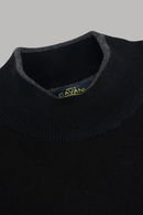 Montana Black Turtleneck Jumper - Knitwear - S - ThreadPepper