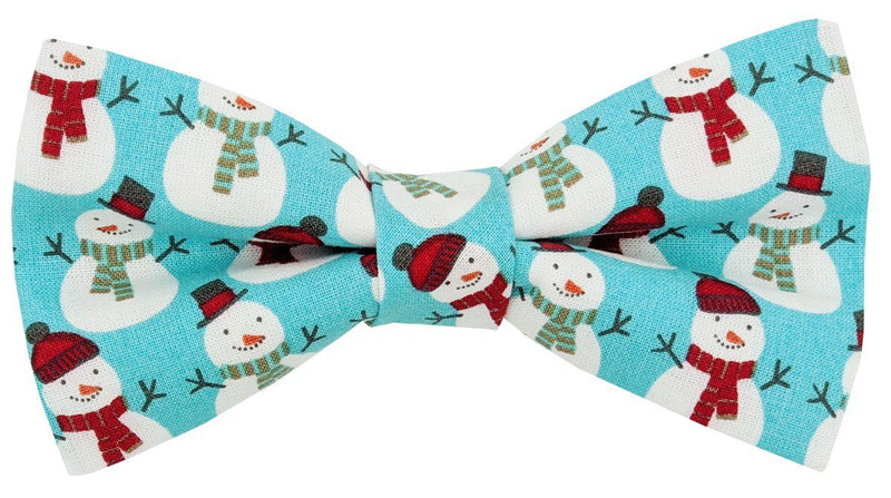Mr Snowman Christmas Ready-Tied Bow Tie - Bow Ties - - ThreadPepper