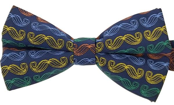 Multi-Coloured Moustache Bow Tie - Bow Ties - - ThreadPepper