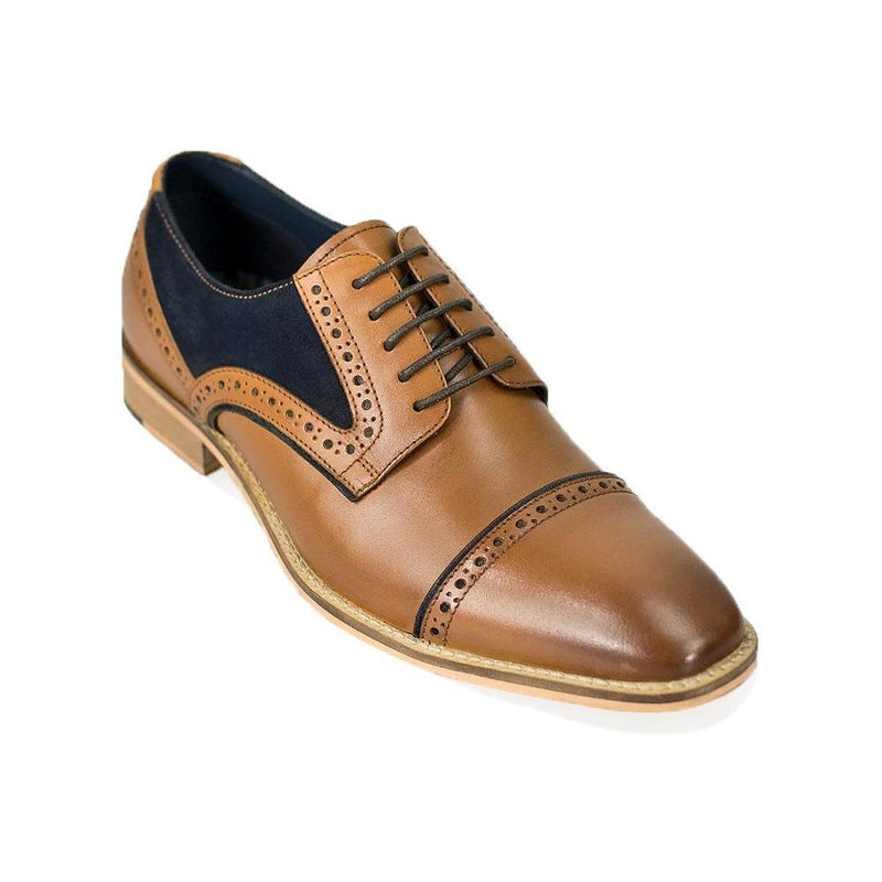 Naples Tan Leather Signature Shoes - Footwear - - ThreadPepper