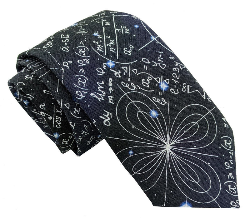 Navy Maths Equations Tie - Ties - - ThreadPepper