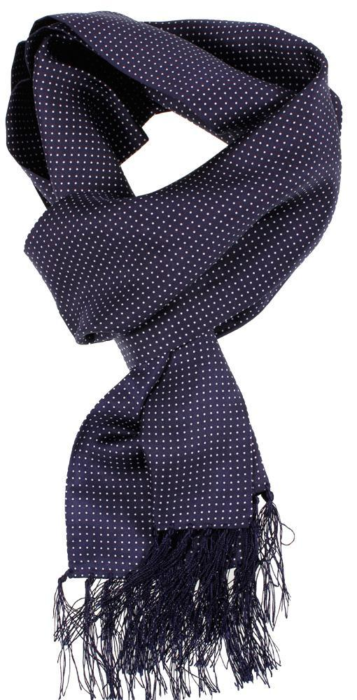 Navy Spot Silk Scarf - Scarves - - ThreadPepper