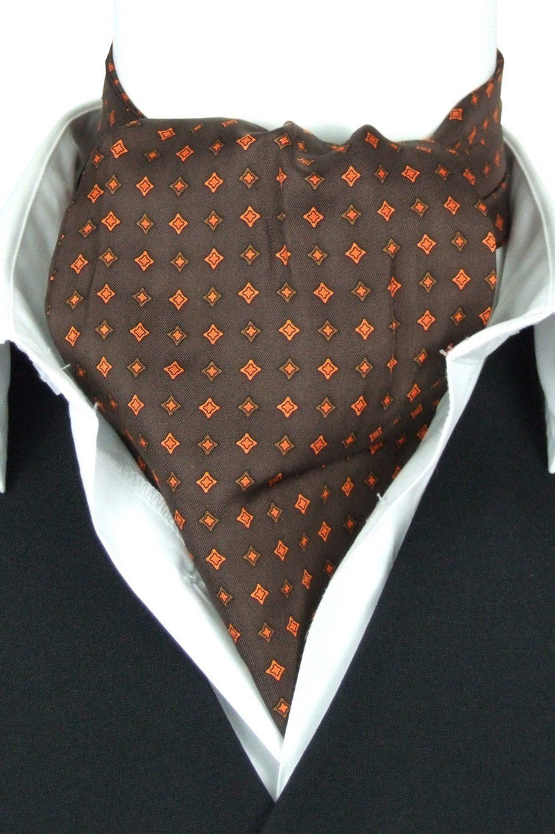 Orville Brown All Silk Cravat - Cravats - - ThreadPepper