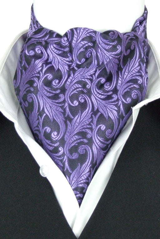 Otto Purple All Silk Cravat - Cravats - - ThreadPepper