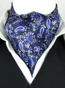 Painted Paisley Midnight All Silk Cravat - Cravats - - ThreadPepper