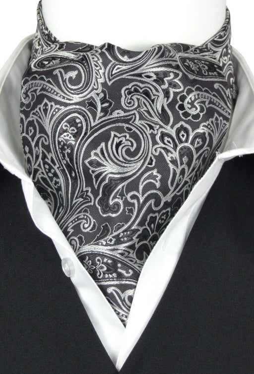 Quinton Black All Silk Cravat - Cravats - - ThreadPepper