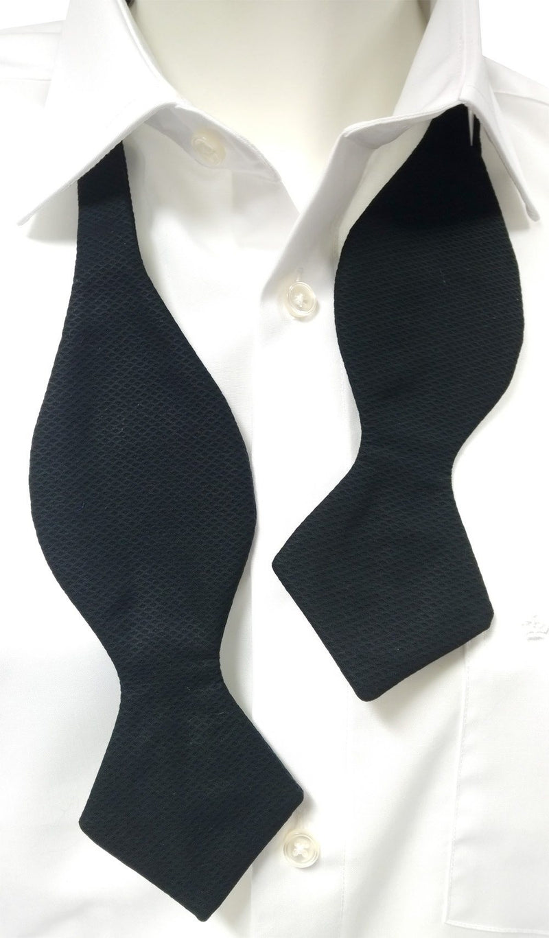Self-Tie Diamond Point Black Marcella Bow Tie - Bow Ties - - ThreadPepper