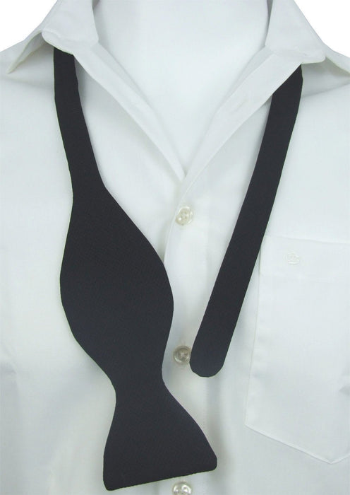 Self-Tie Single End Black Marcella Bow Tie - Bow Ties - - ThreadPepper