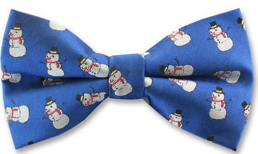 Snowmen Christmas Novelty Bow Tie - Bow Ties - - ThreadPepper